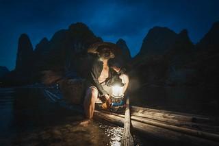 Night fishing...