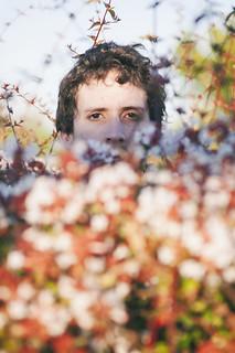 El hombre que se escondía tras las flores