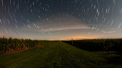 Perseid Meteor Shower 2017 (Gregg Kiesewetter) Tags: persiedmeteorshower startrail longexposure imagestack nightphotography coutryroad moonlight