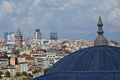 Istanbul (yonca60) Tags: istanbul turkey galatatower galatakulesi kule tower kubbe suleymaniyemosque suleymaniyecami landscape scenery vista cityscape city metropol