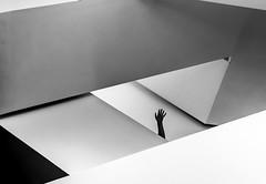 Upward (thewhitewolf72) Tags: riga latviannationalmuseumofart hand up staircase geometry