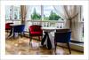 Red chair, blue chair (G. Postlethwaite esq.) Tags: crieff crieffhydro edinburgh perthshire sonya7mkii sonyalphadslr chairs curtains fullframe hotel mirrorless parquetfloor photoborder tables trees windoes wroughtironwork nothdr