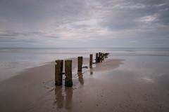 Youghal Strand 19-08-2017 2 (John Holmes (DAJH51)) Tags: beach clouds evening groynes longexposure minimal nopeople sand sea sky sunset