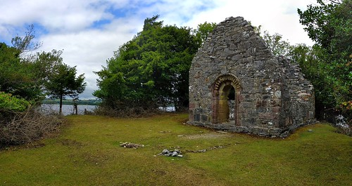 Ruins of the Abbey on Innisfallen island, Killarney National Park