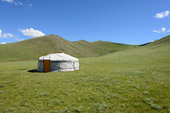 Orkhon valley, Mongolia - Ger (GlobeTrotter 2000) Tags: orkhon steepes asia central explore ger holidays mongolia nature tent tourism travel valley visit yurt hut
