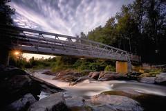 Lever du jour sur la Rivière-Du-Moulin (gaudreaultnormand) Tags: bridge canada leverdesoleil longexposure longueexposition pont quebec rivièredumoulin sunrise