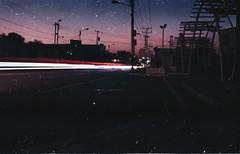 Absolut Spirit. (Gabriel Plcs) Tags: filmisnotdead filmphotography 35mmfilm expired longexposure night dusk kodak proimage iso100 50mm cplfilter analog analogue analogphotography analogico analogica fotografía strasefotografie ruephotographie fotografiacallejera noche canonav1 venezuela southamerica latinamerica americalatina americadelsur suramerica latinoamerica abstract melancholy fade