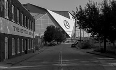 Mercedes-Benz Stadium (N.the.Kudzu) Tags: urban city atlanta georgia football stadium bw canon70d