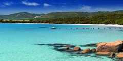 Stitched Panorama plage (bufsom) Tags: plage mer vacances corse palombaggia tourisme beach été rocher pinede nature zen maldives seychelles maroc seascape paysage reve dream vacation cielbleu ciel france