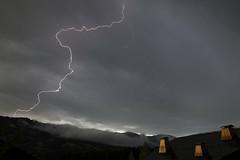 Z (Lolo_) Tags: thunderstorm lightning storm orage éclair foudre strike hautesavoie demiquartier megève bolt roof toit cheminées chimney montagne mountain france