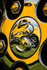 Ram reflecting (kimbenson45) Tags: dodgechallengerrtclassic hemi ram car circles classiccar closeup colorful colourful differentialfocus emblem metal metallic nuts ponycar reflected reflection round shallowdepthoffield silver wheel yellow