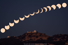 Partial Solar Eclipse in the Bay Area (Jaykhuang) Tags: solareclipses partial bayarea eastbay southbay sanjose lickobservatory morning sun jayhuangphotography composite august212017 2017