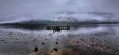 Misty Moody Arrochar (Phelan (Shutter Clickin) Goodman) Tags: loch long arrochar scotland argyll mist misty fog water atmosphere pier seagulls reflections mountains lake rotten