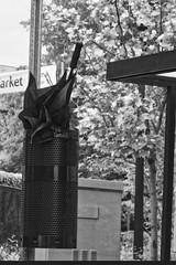 Umbrella in Bin (btusdin) Tags: 7daysofshooting week9 arainyday blackandwhitewednesday