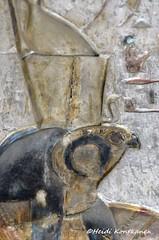 Ancient god Horus (konde) Tags: deirelmedina templeatdeirelmedina ptolemaicperiod horus god art relief ancient luxor hieroglyphs chapel