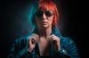 prepare for the matrix (mAndersPhotos) Tags: portrait photoshop digital art blue red haire woman female best age sundglass matrix jeans look paint