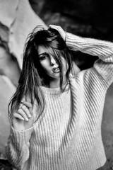 Laura (FTeo79) Tags: portrait portraits portraiture model posing beauty style fashion monochrome blackandwhite film filmphotography canon canonfd canonfd35mm myfotography