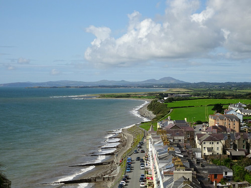 View west from Criccieth Castle