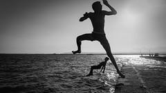 Ortigia Island, Siracusa, Sicily - Italy (DiSorDerINaMirrOR) Tags: sunset sun sicily south siracusa ortigia kids play jump movement italia italiancoast italy italien sicilia summer september sonyalpha sonyalpha6000 sony