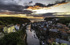 A half decent sky! (Dave Cappleman) Tags: staithes northyorkshire village fishing art staithesschoolofart fishingvillage quaint sea coast cliffs harbour boats fishingboats coble cobles charming seaside whitby whitbyarea whitbydistrict yorkshire beach sand moors heather dales railway steam engine