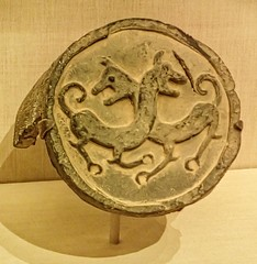 Roof tile with tiger design Warring States period Qin state China 475-221 BCE (mharrsch) Tags: tile relief animal warringstatesperiod qin pottery ancient 5thcenturybce 4thcenturybce 3rdcenturybce exhibit china terracottawarriorsofthefirstemperor pacificsciencecenter seattle washington mharrsch