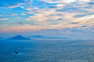 伊良湖水道 夏の夕景