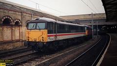 87034 (dave hudspeth photography) Tags: railway train nostalga diesel track transport britishrail iconic davehudspethgrey red blue gner crewe york newcastle
