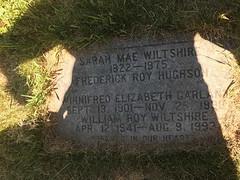 Gravestone - Winnifred Elizabeth Martin, Sarah Mae and Frederick Roy Hughson and William Roy Wiltshire
