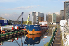 'Britannica Hav' Manchester dry docks 25th September 2017 (John Eyres) Tags: britannica hav moored former manchester dry docks after unloading transformer destined for heineken brewery moss side she is second vessel use wharf within week scot ranger offloaded four silos previously the dock here owned by esprit located trafford park next new itv studios coronation street set it only usable remaining top end canal since salford quays were created old early 1990s manchestershipcanal