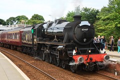 FBSB1-13 Black Five 45407 Dunfermline Town Station (timonrose1) Tags: station dunfermline black5 stanierblack5 steam