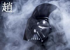 Darth Vader (mikechiu86) Tags: darth vader star wars lego minifigure evil smoke smokey black helmet dark side white