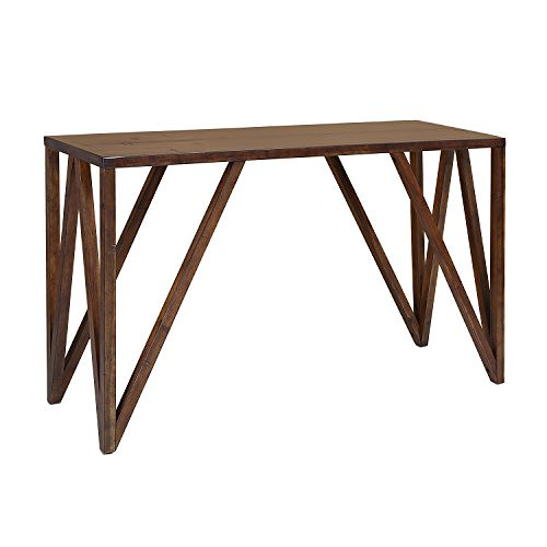 Craft and Main CNO-01281 Old World Chestnut Bali Console Table, 52″ x 18″ For Sale