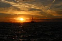 Sunset in Zadar (aoife.sc) Tags: boat zee vacation zonsondergang zon zadar sea sunset croatia sun summer nature clouds sky kroatie evening holiday