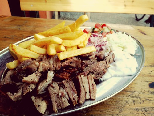 EyeEm Selects French Fries Food No People Ready-to-eat Plate Fast Food Balkan Grill Meat Gyros Berlin at Balkan Grill