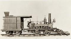 "Camden and Amboy Railroad (USA) - C&ARR 2-4-0 steam locomotive Nr. 1 ""John Bull"" (Robert Stephenson Locomotive Works, 1831) (HISTORICAL RAILWAY IMAGES) Tags: stephenson steam locomotive johnbull usa camden amboy railroad"