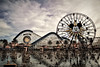 Paradise Pier (niKonJunKy22) Tags: disney disneyland californiaadventure california mikey rollercoaster water color photography sky warm reflection nikon d700 sunset clouds