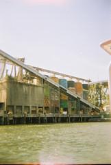 2017-08-21 10.43.07-1 (joannewhiteart) Tags: holga120s holga film kodakportra portra vancouver iloveholgas ishootfilm naturallight filmphotography granvilleisland aquabus falsecreek osgemos publicart mural