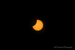 Solar Eclipse Aug. 21st, 2017.  Partial solar eclipse (99.58% coverage of Sun) at Evans, Ga (K.Yemenjian Photography) Tags: eclipse totality partialeclipse sun moon solareclipse umbra penumbra