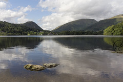 Grasmere Looking North (JoshJackson84) Tags: canon60d sigma18250mm europe uk england cumbria lakes lakedistrict grasmere rydal lake mountain green reflections clouds