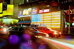 Heart Beat (floralgal) Tags: nyc timessquarenyc newyorkcity manhattan broadway bokeh colorfulbokeh traffic taxis neonlights neonsigns americanflaginlights america usa