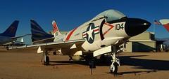 U.S. Navy McDonnell F3H-2N/F-3B Demon, c1955 - Pima Air & Space Museum, Tucson, Arizona. (edk7) Tags: nikond3200 edk7 2013 usa arizona tucson arizonaaerospacefoundation pimaairspacemuseum unitedstatesnavy usnavy usn mcdonnellf3h2nf3bdemon sn143492 c1955 subsonic sweptwing carrierbased allweather fighter military aviation plane airplane aircraft jet allisonj71a2esinglespoolturbojet9500lbfdry14250lbfwithafterburner bomb