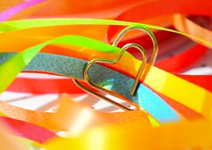 Love and laughter (babs van beieren) Tags: 7dwf wednesday macroorcloseup heart colors paperclip rainbow birthday mirte httpswwwflickrcomphotos149691961n07 colorful