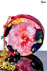 Red & Round (elenpriv) Tags: elenpriv elena peredreeva handmade bag fashion doll fall classic collection floral print flower leather red 16inch