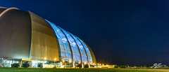 Starbase Brandenburg (Tim van Zundert) Tags: hdr highdynamicrange panorama panoramic hanger aerium tropicalislandsresort krausnick brandenburg germany europe architecture building blue night evening longexposure sony a7r voigtlander 21mm ultron