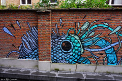Rik Wouters-tuin (Red Cathedral [FB theRealRedCathedral ]) Tags: sony a6000 sonyalpha mirrorless streetart graffiti alpha gijsvanhee gijs vanhee mechelen rikwouters rikwouterstuin sealife urbanart hiddengem malines