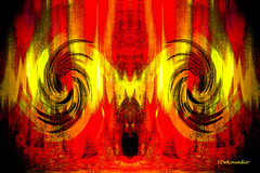 Fellfire (Stephenie DeKouadio) Tags: canon art artistic artwork red abstract abstractart abstractpainting hypnotique painting