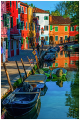 Splashes of Colour (JDWCurtis) Tags: burano venice venezia italy italian italianstreet water waterway waterfront reflection reflections colours colour colourful boat boats canal northernitaly northitaly holiday solo solotraveller soloholiday