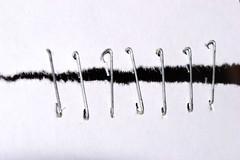 Staples (donjuanmon) Tags: donjuanmon nikon macromondays macro theme paper staples torn repair connections white silver minimalism abstract black