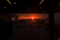 Sunset at Boston Logan International (Andrea // AT Graphics!) Tags: usa america travel traveling travels fujifilm xe1 fuji xmount lens colors summer murica unitedstates northeast northeastern newengland boston massachusetts bostonia maine rhodeisland newhampshire north