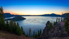 Dawn at Crater Lake (jthight) Tags: rock craterlake landscape northamerica nationalpark mountains landform lake volcano sky rocks nikond810 morning lavarock dawn oregon beautiful clouds water sunrise usa july trees unitedstates d810 afzoom1424mmf28g lightroom prospect us